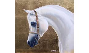 Arabian Horse Head Painting By Terence