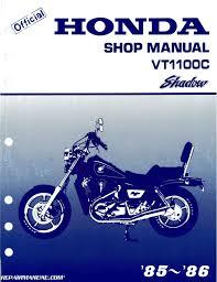 1985 1986 honda vt1100c shadow motorcycle service manual 1985 1986 honda vt1100c shadow motorcycle service manual