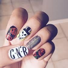Gun Nail Art Designs Guns N Roses Rock Nails Rose Nails Punk Nails