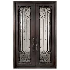 glass front doors with iron. Modren Iron Iron Doors Unlimited 62 In X 975 Armonia Classic Full Lite Painted Oil Intended Glass Front With E