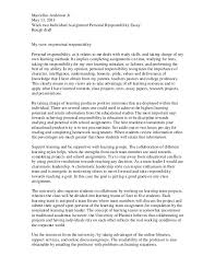 essay rough draft co essay rough draft personal responsibility
