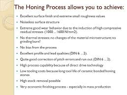 Gear Honing Characteristics Specific Applications Ppt