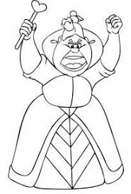 Small Picture Queen of Hearts Alice in Wonderland Coloring Pages Dragoart
