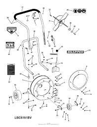 Leaf blower parts diagram lovely snapper lbc6151bv 6 hp 15 quot classic walk behind leaf blower