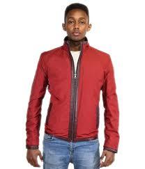 men s leather jacket aubergine reversible red