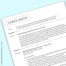 Marketing Cv Templates In Microsoft Word Format Free To