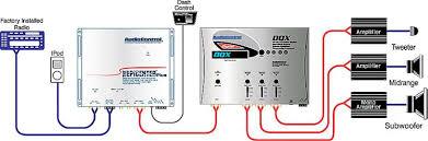 crossover wiring diagram car audio crossover image audiocontrol dqx silver 2 channel digital equalizer 3 way on crossover wiring diagram car audio