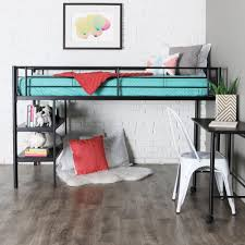 metal bunk bed with desk. Wonderful Bunk Walker Edison Twin Low Loft Bed With Rolling Desk Throughout Metal Bunk With T
