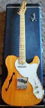 "fender vintage ultravox 1969 fender thinline ash body and ""old style"" tele pickups"