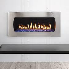 heat glo mezzo 48 gas fireplace with quattro front