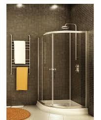 fleurco capri round frameless curved glass corner sliding doors shower enclosure