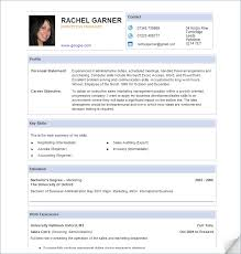 Resume Examples, Online Free Resume Template Contact Address Email Phone  Number Profile Rachel Garner Marketing
