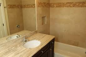 the beige colored travertine tile countertops are considered one of a kind for their most common designs and their aesthetically pleasing appearance