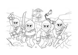 Small Picture Printable Lego Ninjago Coloring Pages ImagiPlay