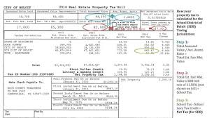 Sample Property Assessment Cool Property Tax Calculations Reading Your Tax Bill