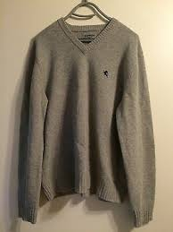 7 Downie St Size Chart Mens Giorgiolini Gray Long Sleeve Italian Wool Cashmere
