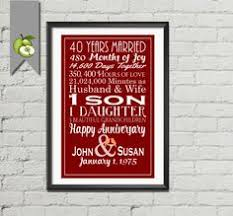 editable ruby wedding gift editable 40th wedding anniversary subway printable love story stats marriage gift for couple unique