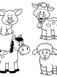 Cute Baby Animal Coloring Sheets Baby Animal Coloring Page Cute Baby