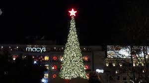 Macy S Christmas Tree Lighting 2016 Tree Lighting Ceremony Union Square San Francisco California 2016