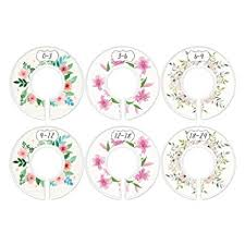 Baby Closet Dividers, First Bouquet, Girl, Set of 6 Size Organizers, Flowers