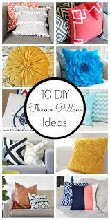 decorative pillow ideas. 10 diy throw pillow ideas decorative