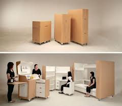 office space saving ideas. Rooms In Boxes Space Saving Bedroom Office Kitchen Convertible Furniture Ideas D