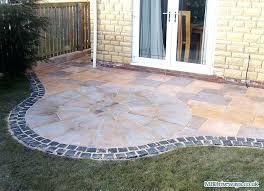 patio edging brick