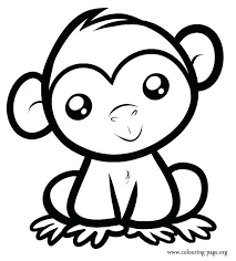 Cute Animal Coloring Pages Cute Monkeys Coloring Pages Cute Animal