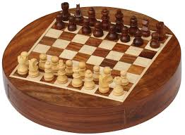 "Wooden Board Game Sets Wholesale 100"" Round Chess Board Chessmen Set with Storage Drawer 50"