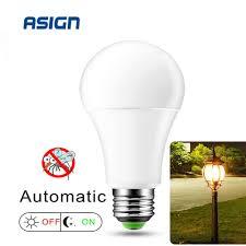 Automatic Outdoor Light Led Dusk To Dawn Light Bulb 7w 12w Smart Sensor Bulbs