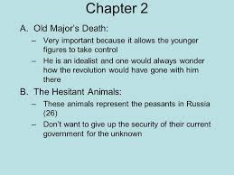 animal farm george orwell ppt  chapter 2 old major s death the hesitant animals