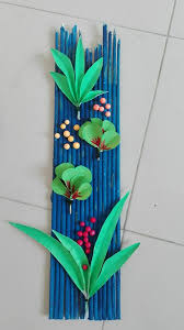 wall art 14  on wall decoration art and craft with how to make newspaper wall art simple craft ideas