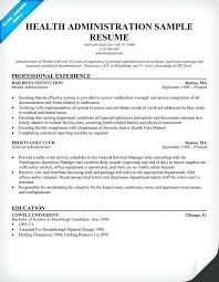 Healthcare Administration Cover Letter Examples Healthcare