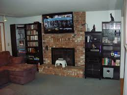 natural modern design of the fireplace with tv decor ideas can be decor with brick fireplace mantle can add the beauty inside the modern house design ideas