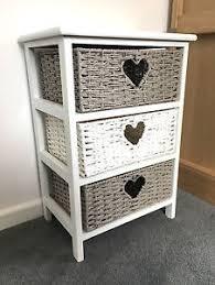 wicker basket cabinet. Wonderful Cabinet Image Is Loading GreyWhiteStorageCabinetBathroomWickerBaskets Nightstand In Wicker Basket Cabinet EBay