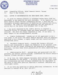 Senior Warrant Officer Letter Of Recommendation Magdalene