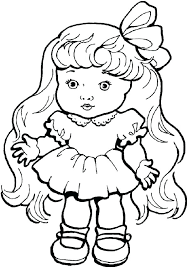 Baby Doll Coloring Sheets For Pages Beautiful Toys Troll Showbaby