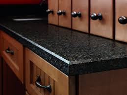 black quartz countertop edges