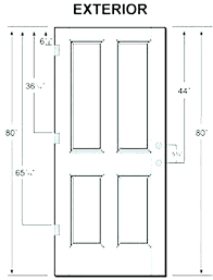 typical door handle height sgering standard door