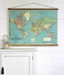 world map wall hanging
