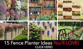 fence garden ideas. fenceplantersfeaturedpost fence garden ideas d