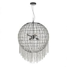 black crystal lighting. Dar LUP0622 Lupita 6 Light Pendant Black Crystal Lighting 0