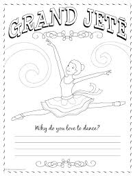 Ballet Positions Coloring Pages Ballet Positions Coloring Pages