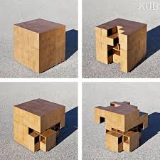 wooden cubes furniture. Rubik\u0027s Cube-Like Furniture : Puzzle Table Wooden Cubes
