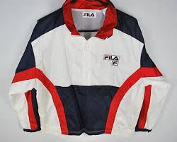 fila 1 4 zip. fila 1/4 zip windbreaker jacket mens s red white blue tennis pullover hip hop 1 4 n