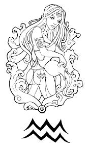 эскиз символа водолея и девушки с кувшином эскизы татуировок
