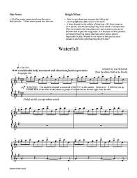 Printable sheet music file, 1 copy • 10 pages, id: Waterfall Free Sheet Music By Jon Schmidt Pianoshelf