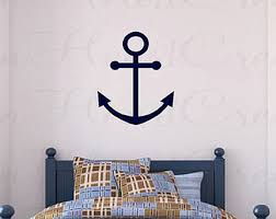 boat anchor vinyl wall decal nautical wall decals for boys room 22h nw0036 on
