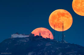 Image result for Photography of Moonrise at the exact point