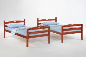 twin twin bunk split in cherry for sesame bunk split bed set xiorex